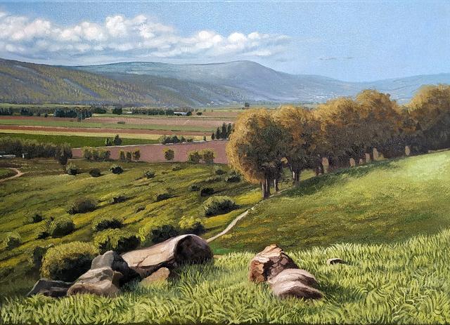 Durar Bacri, 'The Carmel Mountain ', 2020, Painting, Oil on canvas, Zawyeh Gallery