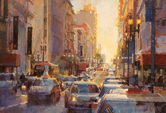 , 'Looking Up Post Street, San Francisco,' 2015, Abend Gallery