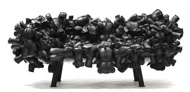 , 'Leather Teddy Bear Sofa,' 2013, Galerie Clemens Gunzer