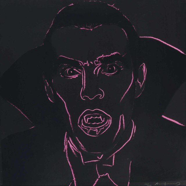 Andy Warhol, 'Dracula, from Myths', 1981, Print, Screenprint in colors with diamond dust, on Lenox Museum Board, Christie's