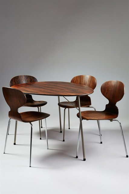 , 'Dining table and four chairs,' 1965, Modernity