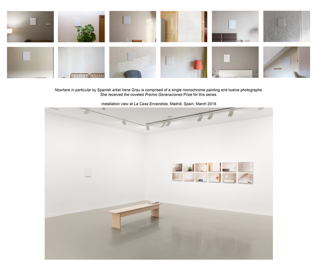 , 'Ningún lugar en particular (Nowhere in particular) #1/1 - unique set comprised of one painting and twelve individually framed/mounted photographs,' 2017, Maus Contemporary