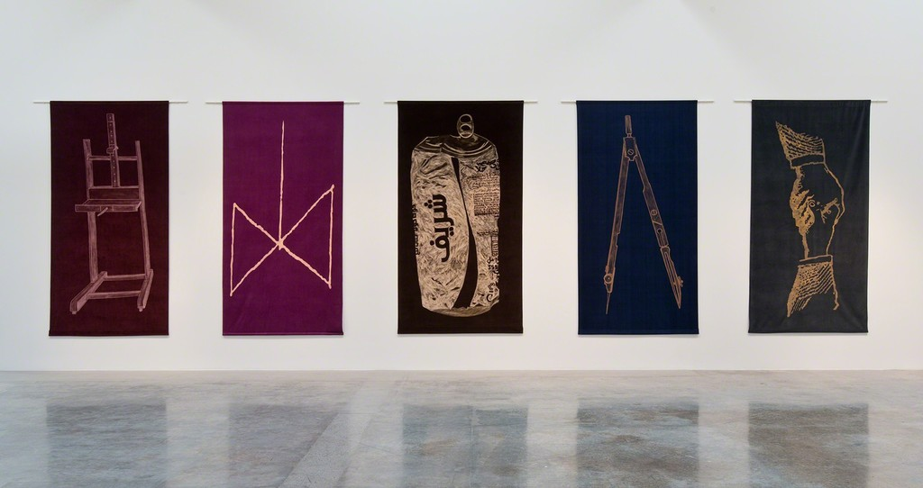 """Giulia Piscitelli, Installation view, """"Wide Rule"""", 2015  -  Copyright Giulia Piscitelli  -  Courtesy of Giulia Piscitelli and Kayne Griffin Corcoran, Los Angeles, CA"""