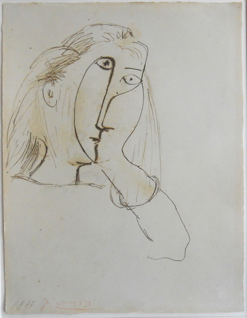 Pablo Picasso, 'Woman Resting her Head on her Hand (portrait of Dora Maar)', 1943, MICHALI GALLERY