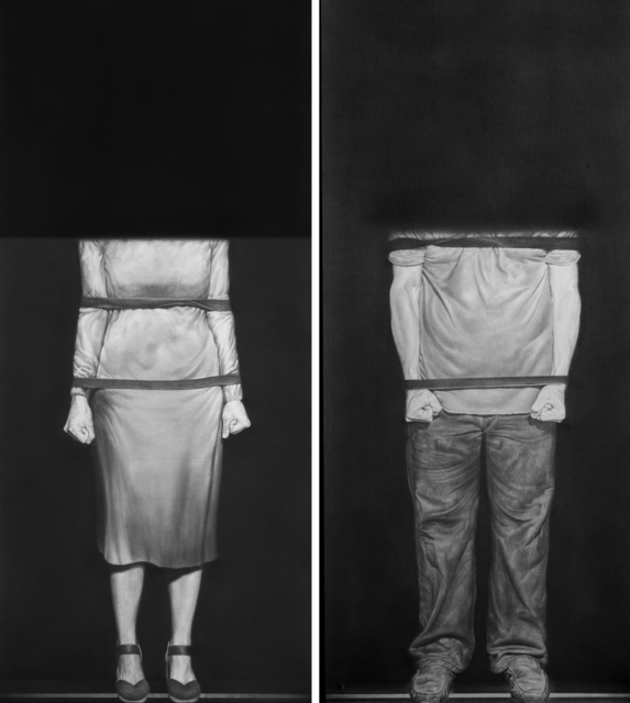 , 'ANONIMO I & II,' 2016, saltfineart