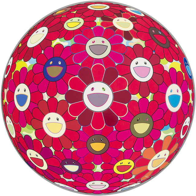 Takashi Murakami, 'Flower Ball (3-D) Red Cliff ', 2010 , Galerie Raphael