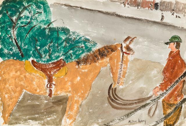 Milton Avery, 'Untitled (Horse & Rider) / Untitled (Daffodils)', ca. 1930, Yares Art