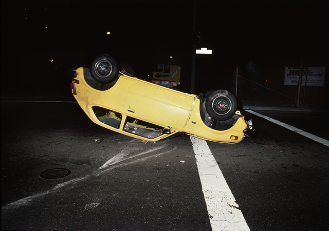 , 'Upside down yellow car,' 1980, Casemore Kirkeby