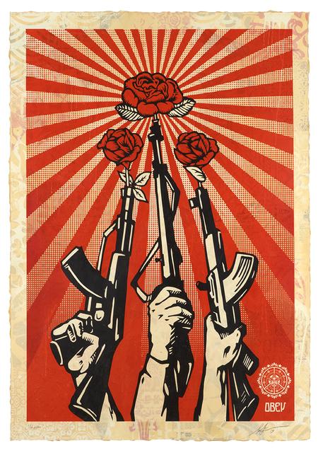 Shepard Fairey, 'Guns and Roses ', 2019, Samuel Owen Gallery