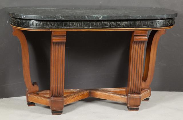 'Art Deco Part Ebonized Mahogany Console', Design/Decorative Art, Doyle