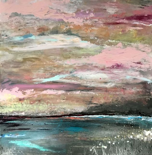 Tipperley Hill, 'Pink Sky Dreaming Original, mixed media, personally signed acrylic paint Signed', 2018, Flat Space Art