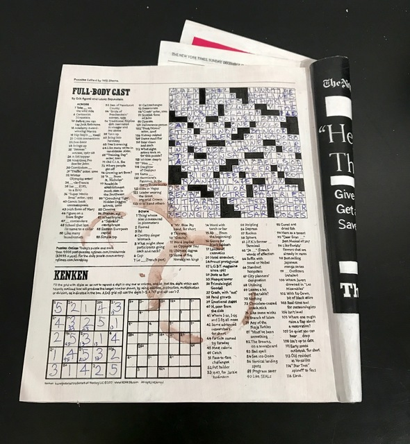 Randall Rosenthal, 'NY Times Crossword, 12/17/17', 2017, The Vickers Collection