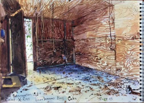 , '5/14/13, Old interrogation hut, Camp X-Ray, Guantanamo Bay, Cuba,' 2013, Postmasters Gallery