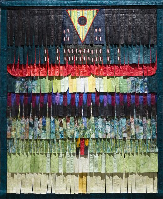 , 'Composition en vert (trianle et cercle noir),' 2017, Primo Marella Gallery