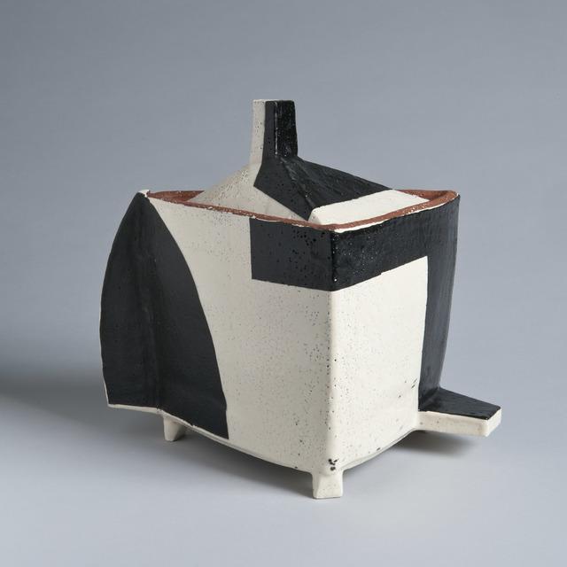 , 'Lidded Jar, Black and White,' 2017, LACOSTE / KEANE GALLERY