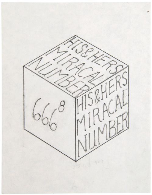 , 'untitled, double side (his and hers miracal number cube),' 1995, christian berst art brut