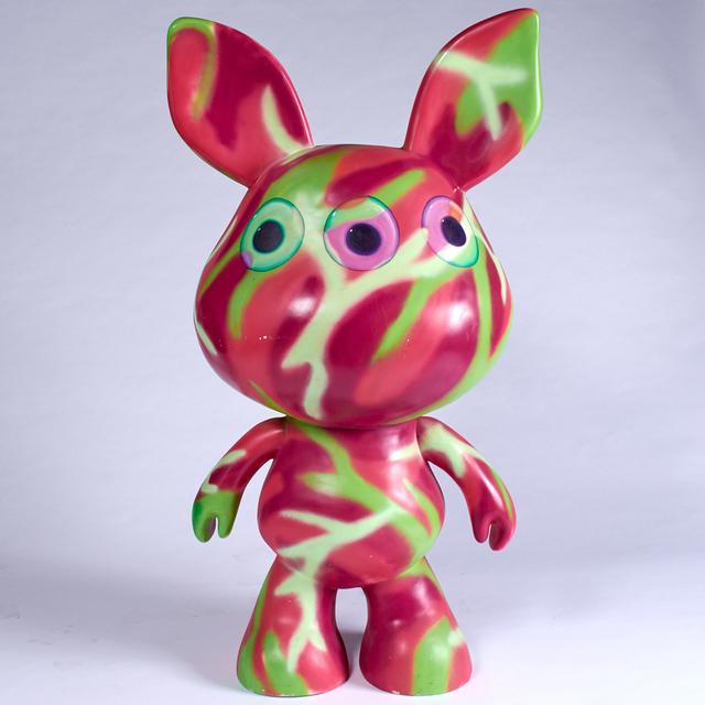 Ron English, 'Giant Scratch', 2013, Sculpture, Unique aerosol paint on vinyl figure, Doyle