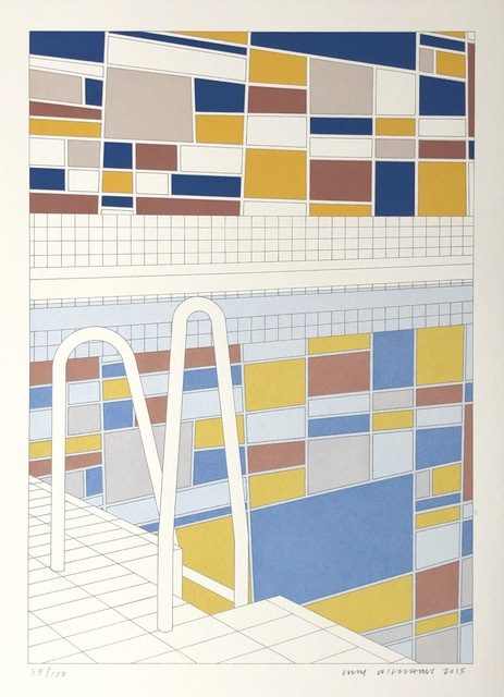 Lucy Williams, 'Indoor Pool (with mural)', 2015, Stubbs Fine Art
