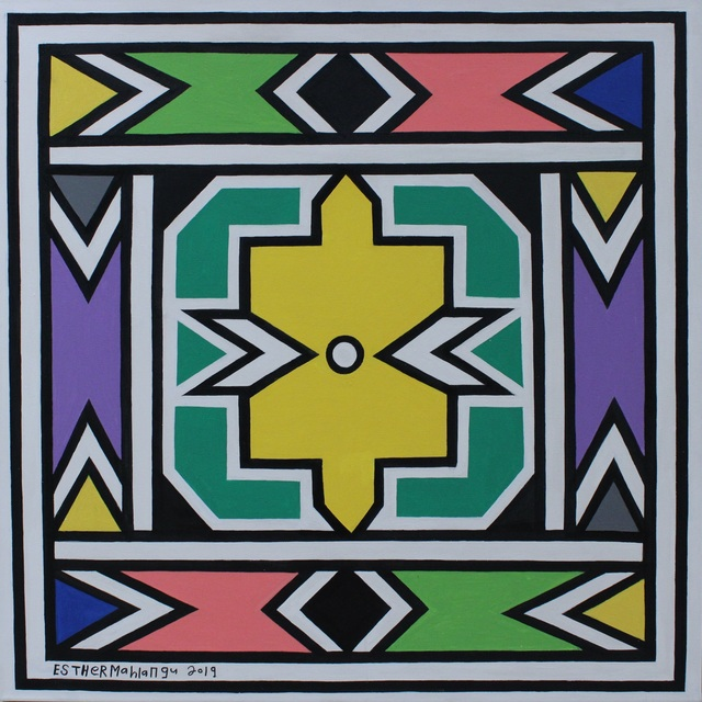 Esther Mahlangu, 'Ndebele Abstract - C001713', 2019, The Melrose Gallery