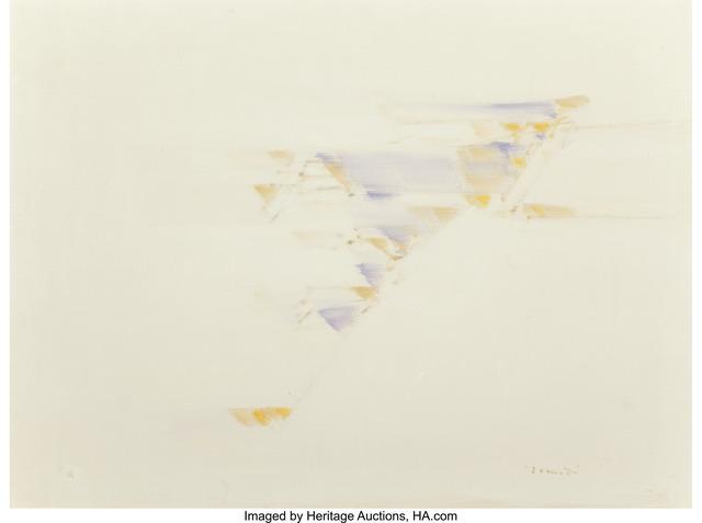 Sergio Romiti, 'Nello Spazio and Stireria (two works)', 1958, Other, Oil on canvas, Heritage Auctions