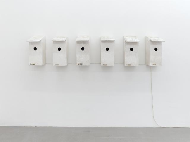 , 'Vogelkästen mit Türklingeln (Bird Boxes with doorbells),' 1981, Kadel Willborn