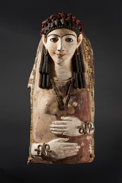 , 'Cartonnage Mask of a Young Lady,' Ca. AD 100, Geoffrey Diner Gallery
