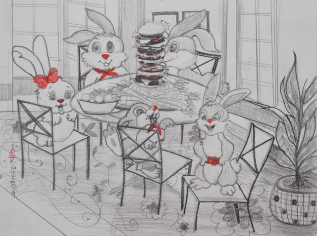 , 'Family Table,' 2019, Fountain House Gallery