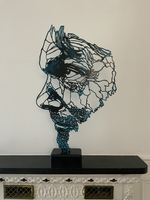 C215, 'Anonymous', 2021, Sculpture, Painting on metal, wood and resin, Galry