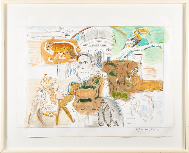 Larry Rivers, 'Bronx Zoo', 1983, Print, Lithograph in colors with screenprinting, Rago/Wright
