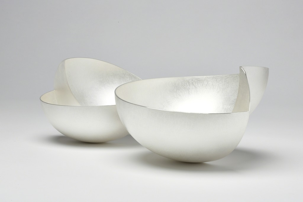 Adi Toch, Step Bowls Britannia Silver Large H 15cm Small H 11cm