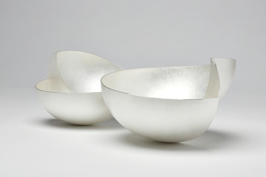 Adi Toch, Step Bowls Britannia Silver Large H 15cm Small H 11cm Large £2,000 Small £1,400