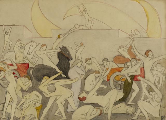 , 'Attack,' ca. 1910, Ben Uri Gallery and Museum