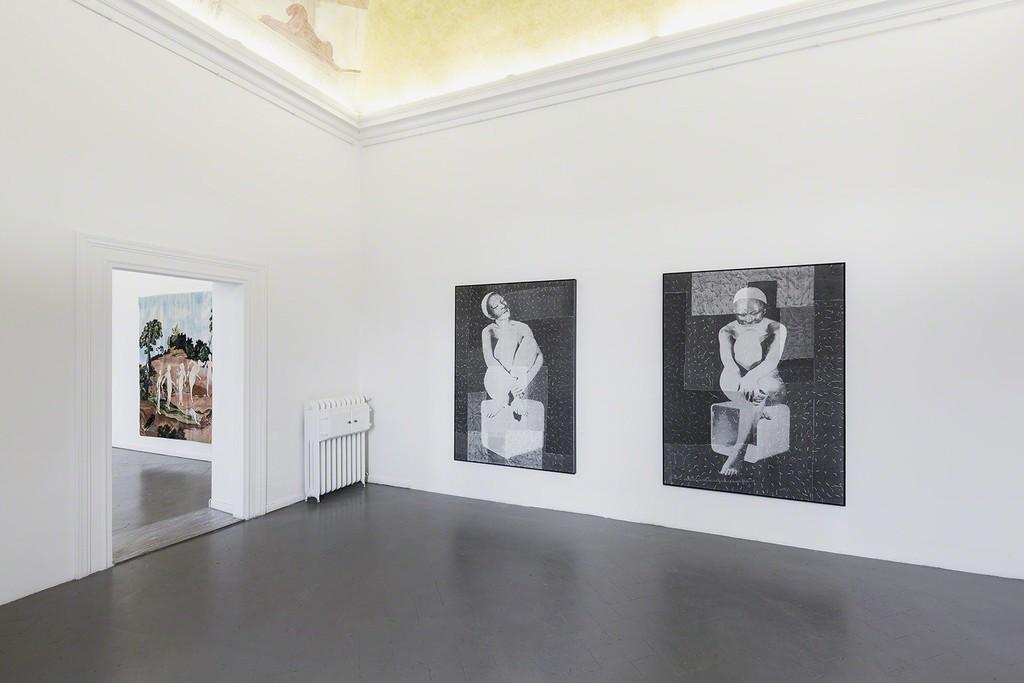 "David Noonan ""Untitled"" and ""Untitled"", on other room Sanam Khatibi"