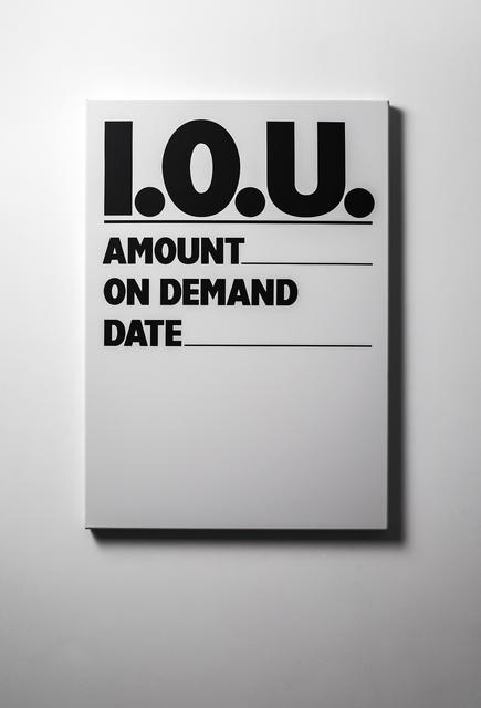 , 'IOU (Untransacted),' 1987/2018, Rossi & Rossi