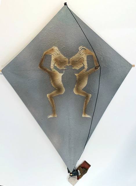 Francisco Toledo, 'Untitled, Two Figures Kite, HOLIDAY SALE TAKE 20% OFF NEXT THREE WEEKS', 2010, David Lawrence Gallery