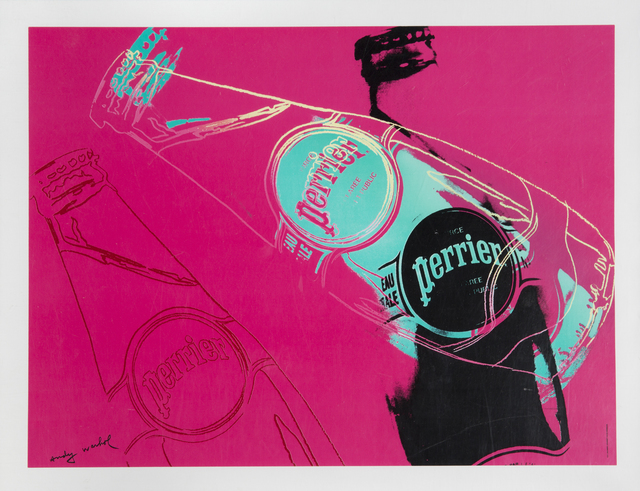 Andy Warhol, 'Perrier (Pink)', 1983, Print, Offset lithograph, printed later, Julien's Auctions