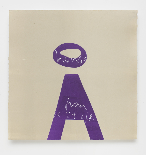 Magne Furuholmen, 'alpha-beta 'A'', 2009, Print, Monotype with drypoint on Somerset 410gsm white satin, Paul Stolper Gallery