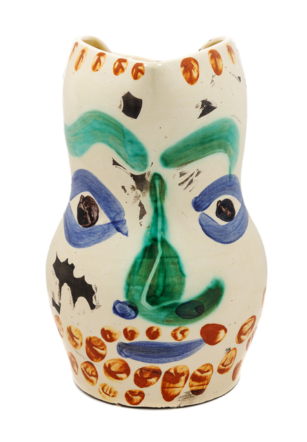 Pablo Picasso, 'Face with Points', 1969, Design/Decorative Art, Partially glazed ceramic, Hindman
