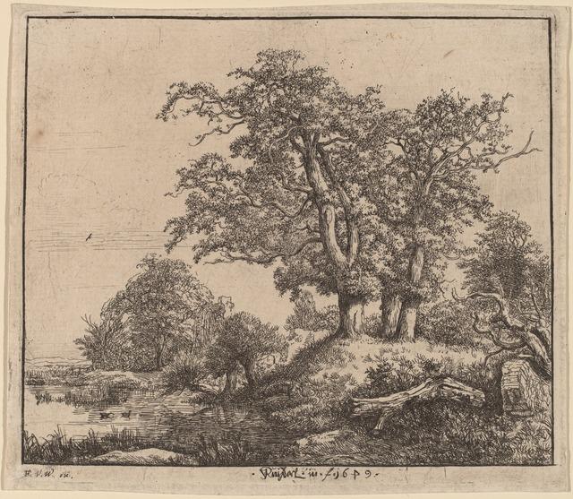 Jacob van Ruisdael, 'The Three Oaks', National Gallery of Art, Washington, D.C.