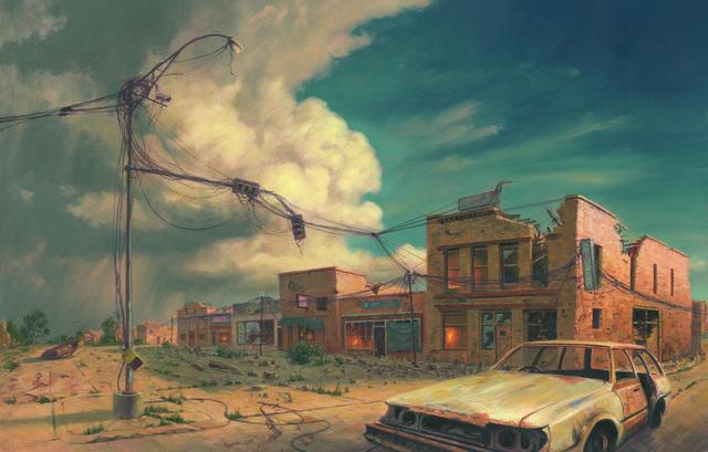 Mark Harrison, 'Main Street Apocalypse', 2019, Painting, Oil on linen, IX Gallery