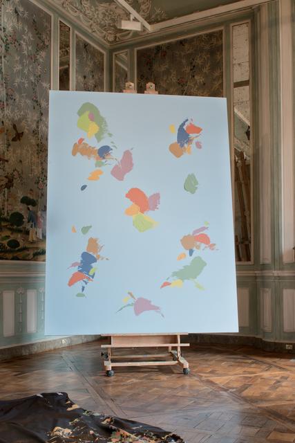 , 'Untitled Painting (WORLD MAP #5),' 2016, PRAZ-DELAVALLADE