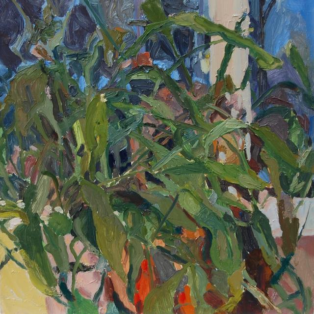 Gulgun Aliriza, 'Hidden', 2017, Painting, Oil on birch wood, Blue Mountain Gallery
