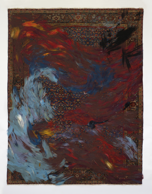 , ''RETOLD: Mahal Blue Field' carpet.,' 2017, R & Company
