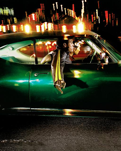 David Drebin, 'Two Guys In Green Car', 2002, Photography, Digital C-Print on Archival Paper, Isabella Garrucho Fine Art