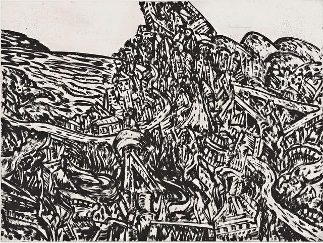 , 'Coastal city (1),' 2012, Australian Print Workshop
