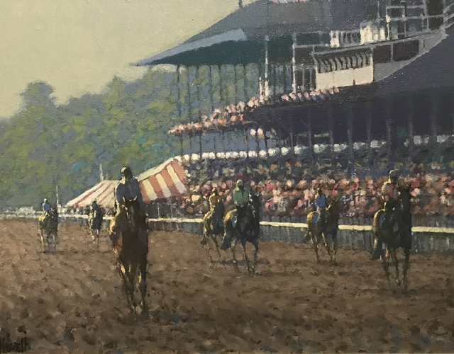 , 'Training on the Track, Saratoga,' Late 20th Century, Cross Gate Gallery
