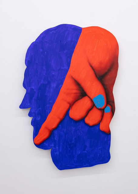 James English Leary, 'Cameo (Pointer)', 2020, Painting, Acrylic on shaped panel, Nina Johnson