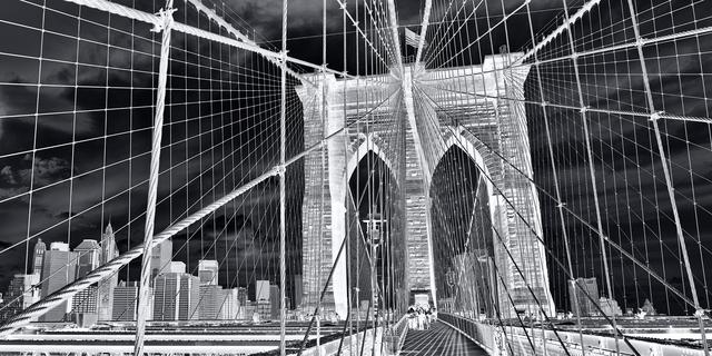 , 'Inverted Brooklyn Bridge,' 2020, Andrew Prokos Gallery