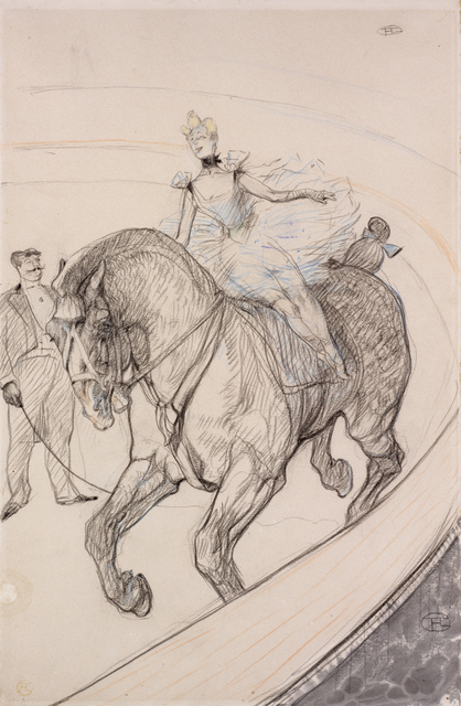 Henri de Toulouse-Lautrec, 'At the Circus: Bareback', 1899, Drawing, Collage or other Work on Paper, Crayon, ink and pastel on paper, RISD Museum