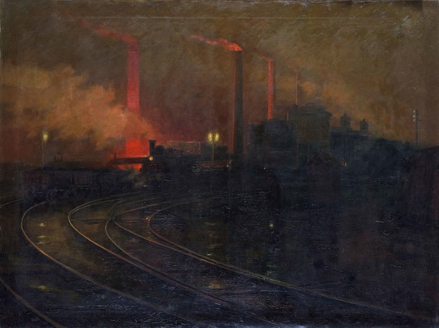 , 'Steelworks, Cardiff, at Night,' 1895-1897, American Federation of Arts